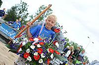 FIERLJEPPEN: IJLST: 06-08-2016, FK Fierleppen Jeugd, Timo van der Knaap ( (IJlst) winnaar jongens tot 10 jaar met 9.26m, ©foto Martin de Jong
