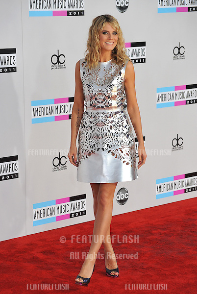 Heidi Klum arriving at the 2011 American Music Awards at the Nokia Theatre, L.A. Live in downtown Los Angeles..November 20, 2011  Los Angeles, CA.Picture: Paul Smith / Featureflash