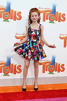 WESTWOOD, CA - OCTOBER 23: Francesca Capaldi at the premiere Of 20th Century Fox's 'Trolls' at Regency Village Theatre on October 23, 2016 in Westwood, California. Credit: David Edwards/MediaPunch