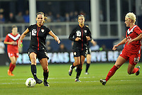 USWNT midfielder Lauren Cheney (12) in action.....USWNT played to a 1-1 tie with Canada at LIVESTRONG Sporting Park, Kansas City, Kansas.