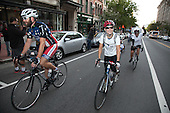 Last stop Washington DC. The riders climb 7th NW from Pennsylvania Ave.