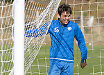 St Johnstone Training&hellip;.30.09.16<br />Aaron Comrie pictured during training this morning<br />Picture by Graeme Hart.<br />Copyright Perthshire Picture Agency<br />Tel: 01738 623350  Mobile: 07990 594431