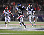 Ole Miss running back Brandon Bolden (34) runs vs. Louisiana-Lafayette in Oxford, Miss. on Saturday, November 6, 2010. Ole Miss won 43-21.