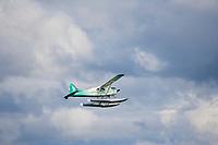Float plane transports tourists to Katmai National Park, Alaska.