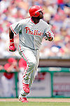 11 June 2006: Ryan Howard, first baseman for the Philadelphia Phillies, runs to first during a game against the Washington Nationals at RFK Stadium, in Washington, DC. The Nationals shut out the visiting Phillies 6-0 to take the series three games to one...Mandatory Photo Credit: Ed Wolfstein Photo..