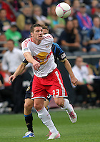CHESTER, PA - OCTOBER 27, 2012:   Kenny Cooper (33)of the New York Red Bulls during an MLS match against the Philadelphia Union at PPL Park in Chester, PA. on October 27. Red Bulls won 3-0.