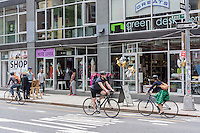 Shopping and bicycles in the hipster neighborhood of Williamsburg, Brooklyn in New York on Saturday, May 24, 2014.  (© Richard B. Levine)
