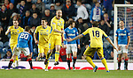 Steven Anderson celebrates his equaliser for St Johnstone
