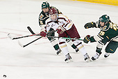 Victoria Andreakos (UVM - 44), Meagan Mangene (BC - 24), Sarah Campbell (UVM - 26) - The Boston College Eagles defeated the visiting University of Vermont Catamounts 2-0 on Saturday, January 18, 2014, at Kelley Rink in Conte Forum in Chestnut Hill, Massachusetts.