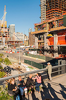 Construction of the Hudson Yards development in New York seen from the High Line Park on Friday, October 14, 2016.  (© Richard B. Levine)