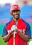 15 March 2009: Washington Nationals' outfielder Corey Patterson awaits his turn in the batting cage prior to a Spring Training game against the Detroit Tigers at Space Coast Stadium in Viera, Florida. The Tigers shut out the Nationals 3-0 in the Grapefruit League matchup. Mandatory Photo Credit: Ed Wolfstein Photo