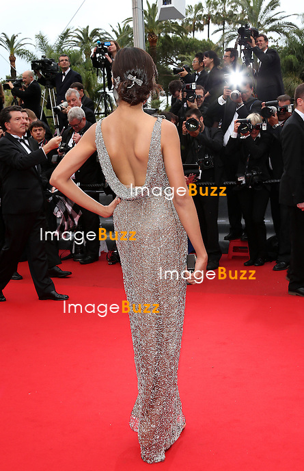 CPE/Actress Freida Pinto attends the 'Jeune & Jolie' premiere during The 66th Annual Cannes Film Festival at the Palais des Festivals on May 16, 2013 in Cannes, France.