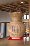 Photo shows a two-meter high bamboo vase created by local artisan Nobuyuki Tanabe on display inside the Beppu Traditional Bamboo Crafts Center  in Beppu City, Oita Prefecture, Japan on Sept. 20. 2016. ROB GILHOOLY PHOTO