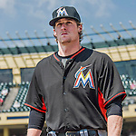 19 March 2015: Miami Marlins pitcher Tom Koehler takes to the field for pre-game warm-ups prior to a Spring Training game against the Atlanta Braves at Champion Stadium in the ESPN Wide World of Sports Complex in Kissimmee, Florida. The Braves defeated the Marlins 6-3 in Grapefruit League play. Mandatory Credit: Ed Wolfstein Photo *** RAW (NEF) Image File Available ***