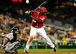 22 August 2009: Washington Nationals' outfielder Elijah Dukes in action against the Milwaukee Brewers at Nationals Park in Washington, DC. The Nationals fell to the Brewers 11-9 in the second game of their four-game series. Mandatory Credit: Ed Wolfstein Photo