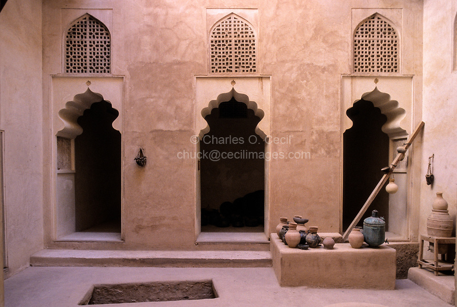 Jabrin, Oman.  An Inner Courtyard of the Fort.