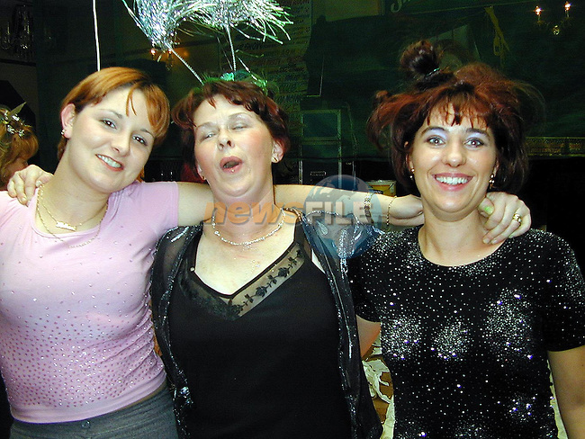 Rebecca Reilly, Mary Ayres and Karen Lynch at the Millenium Hair Show in O'Neill's Duleek..Picture Paul Mohan Newsfile.NO BYLINE PLEASE