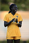 09 September 2016: West Virginia's Michaela Abam. The Duke University Blue Devils hosted the West Virginia University Mountaineers at Koskinen Stadium in Durham, North Carolina in a 2016 NCAA Division I Women's Soccer match. West Virginia won the match 3-1.