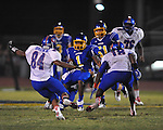 Oxford High's Jarius Barnes (1) vs. Grenada in Oxford, Miss. on Friday, August 17, 2012. Oxford won 28-22.