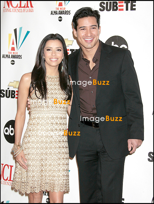 EVA LONGORIA ET MARIO LOPEZ - SOIREE DES NOMINES AUX ALMA AWARDS 2007 AU BEVERLY HILTON HOTEL..2007 ALMA AWARDS NOMINATIONS, AT THE BEVERLY HILTON HOTEL