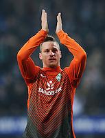FUSSBALL   1. BUNDESLIGA   SAISON 2011/2012   22. SPIELTAG Hamburger SV - Werder Bremen       18.02.2012 Marko Arnautovic (SV Werder Bremen)  jubelt nach dem Abpfiff