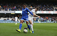 Cardiff City's Kadeem Harris and Queens Park Rangers' Jamie Mackie<br /> <br /> Photographer /Rob NewellCameraSport<br /> <br /> The EFL Sky Bet Championship - Queens Park Rangers v Cardiff City - Saturday 4th March 2017 - Loftus Road - London<br /> <br /> World Copyright &copy; 2017 CameraSport. All rights reserved. 43 Linden Ave. Countesthorpe. Leicester. England. LE8 5PG - Tel: +44 (0) 116 277 4147 - admin@camerasport.com - www.camerasport.com