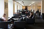 February 23, 2015. Durham, North Carolina.<br />  Students study in the J. Michael Goodson Law Library, which was completed just a few years ago.<br />  The Duke University School of Law is considered one of the best law schools in the country.