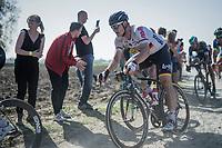Andr&eacute; Greipel (DEU/Lotto-Soudal) riding strong<br /> <br /> 115th Paris-Roubaix 2017 (1.UWT)<br /> One Day Race: Compi&egrave;gne &rsaquo; Roubaix (257km)