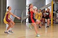 Action from the CSW Junior Netball Tournament at ASB Sports Centre, Wellington, New Zealand on Thursday 11 August 2016. <br />