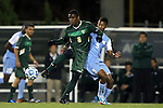 21 November 2013: USF's Duane Muckette (TRI) (6) and North Carolina's Jordan McCrary (9). The University of North Carolina Tar Heels hosted the University of South Florida Bulls at Fetzer Field in Chapel Hill, NC in a 2013 NCAA Division I Men's Soccer Tournament First Round match. North Carolina won the game 1-0.