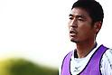 Kenji Fukuda (Ehime FC),MAY 8th, 2011 - Football : Kenji Fukuda of Ehime FC warms up during the 2011 J.League Division 2 match between Shonan Bellmare 1-1 Ehime FC at Hiratsuka Stadium in Kanagawa, Japan. (Photo by Kenzaburo Matsuoka/AFLO).