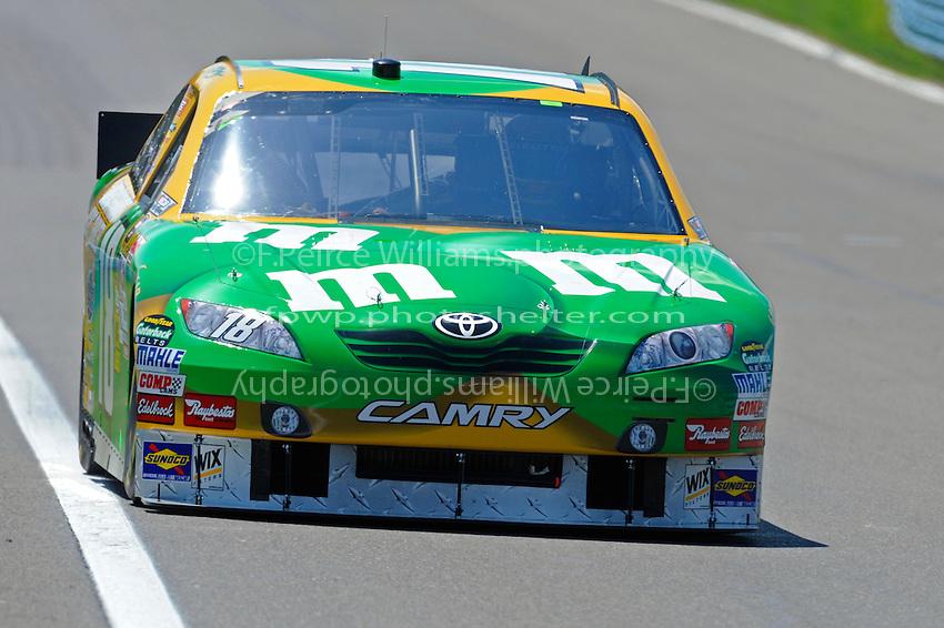 6-8 August, 2010, Watkins Glen, New York USA.Kyle Busch (#18).©2010 F.Peirce Williams, USA.