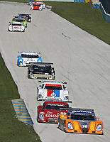 Action in the Gainsco Grand Prix of Miami Grand Am Rolex Seires sports car race at Homestead-Miami Speedway in Homestead, FL in March of 2008. (Photo by Brian Cleary/www.bcpix.com)