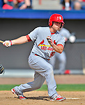 12 March 2012: St. Louis Cardinals catcher Cody Stanley in action during a Spring Training game against the Washington Nationals at Space Coast Stadium in Viera, Florida. The Nationals defeated the Cardinals 8-4 in Grapefruit League play. Mandatory Credit: Ed Wolfstein Photo