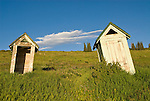 Two old outhouses at the old Forest Severice camp high on the western slope of the Wasatch Plateau