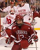 Nathan Krusko (Harvard - 13) - The Harvard University Crimson defeated the Boston University Terriers 6-3 (EN) to win the 2017 Beanpot on Monday, February 13, 2017, at TD Garden in Boston, Massachusetts.