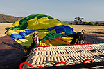 The Up & Away team fills a hot air balloon in Middletown, California on Saturday July 14th 2012. (Photo By Brian Garfinkel)