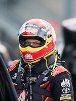 Sep 18, 2016; Concord, NC, USA; NHRA top fuel driver Doug Kalitta during the Carolina Nationals at zMax Dragway. Mandatory Credit: Mark J. Rebilas-USA TODAY Sports