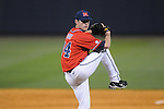 Ole Miss' Jon Andy Scott (34) pitches at Oxford-University Stadium in Oxford, Miss. on Wednesday, March 2, 2010.