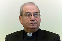 Roma 19 Ottobre 2015<br /> Conferenza stampa di presentazione della Guida agli eventi della diocesi di Roma per il Giubileo della misericordia. Mons. Enrico Feroci direttore della Caritas di Roma.<br /> Rome 19 October 2015<br /> Press conference to present the Events Guide of the Diocese of Rome for the Holy Year of Mercy. The  Msgr. Enrico Feroci director of Caritas in Rome.