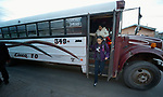 Patricia Esquivel and her daughter, Yarely Arellano, disembark from a bus in the Mexican city of Juarez. They are on their way to the U.S. border, where Arellano will cross into El Paso, Texas, to study at the Lydia Paterson Institute, a United Methodist sponsored high school. Arellano makes the journey every school day, and most days her mother accompanies her to the border for safety. Arellano was born in the United States, and is thus a U.S. citizen, but her mother, a Mexican national, was later deported and is not allowed to reenter the U.S.