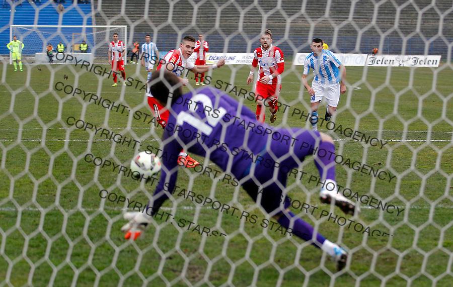 Fudbal Jelen Super League season 2014-2015<br /> Spartak v Crvena Zvezda<br /> Mihailo Ristic scores the goal<br /> Subotica, 14.03.2015.<br /> foto: Srdjan Stevanovic/Starsportphoto&copy;