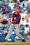 19 March 2006: Daryle Ward, infielder for the Washington Nationals, at bat during a Spring Training game against the Los Angeles Dodgers at Holeman Stadium, in Vero Beach, Florida. The Dodgers defeated the Nationals 9-1 in Grapefruit League play...Mandatory Photo Credit: Ed Wolfstein Photo..