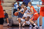 02 November 2016: North Carolina's Stephanie Watts (left) and Carson-Newman's Kayla Newman (right). The University of North Carolina Tar Heels hosted the Carson-Newman University Lady Eagles at Carmichael Arena in Chapel Hill, North Carolina in a 2016-17 NCAA Women's Basketball exhibition game. UNC won the game 96-70.