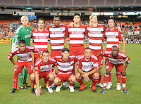 FC Dallas team photo.  FC. Dallas defeated DC United 3-1 at RFK Stadium, Saturday August 14, 2010.