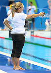 Rio de Janeiro-6/9/2016-Canadian coach France Latendresse at the Olympic Aquatics Stadium prior to the Paralympic Games in Rio. Photo Scott Grant/Canadian Paralympic Committee