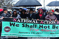Washington, DC - January 14, 2017: Hundreds of people march with Al Sharpton, president of the National Action Network, Marc Morial of the National Urban League and others January 14, 2017, to recommit to Dr. Martin Luther King's vision. The march comes one week before the inauguration of  president-elect Donald Trump.   (Photo by Don Baxter/Media Images International)