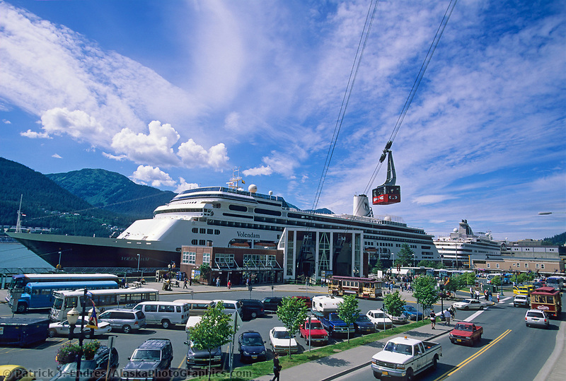 Mount Roberts Tram in downtown Juneau at the Cruise ship dock.