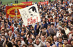 People March for Jobs 1983. Hyde Park London. Conservative employment polices under Mrs Thatcher were blamed for the high level of  unemployment.