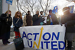 The rally came one day before school district hearings on the closing plan. (Bas Slabbers/for NewsWorks)